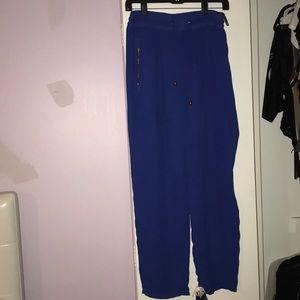 Blue high waisted dress pants/trousers